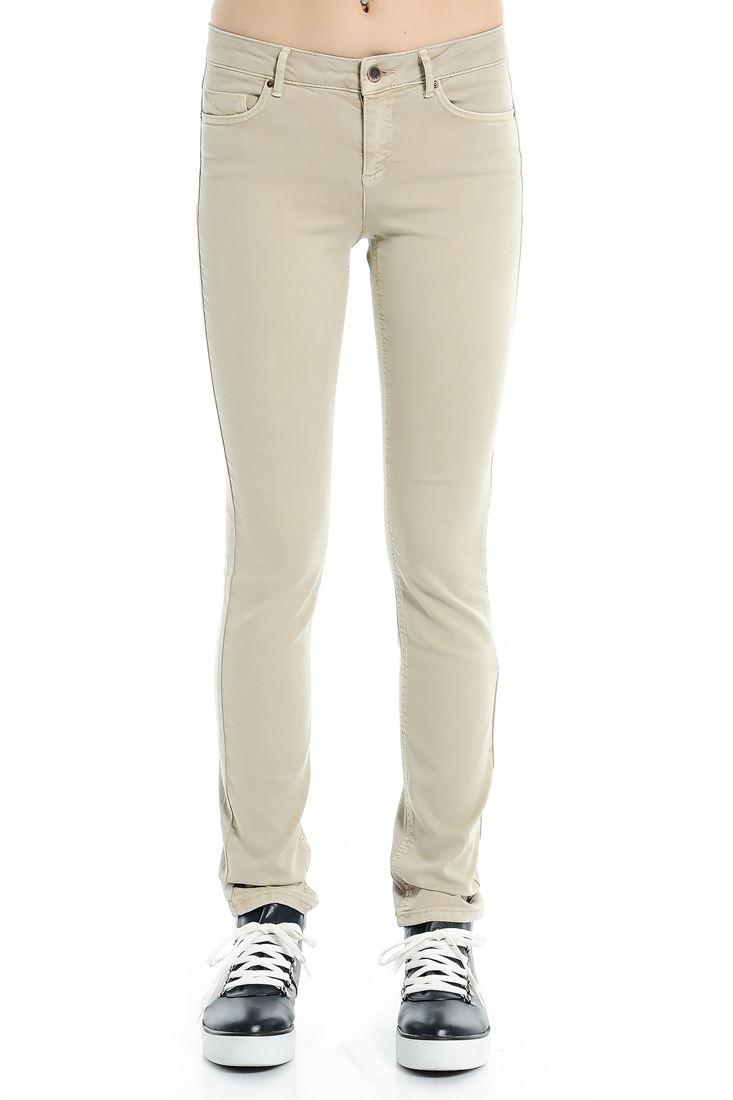 Cream Pencil Leg Jean
