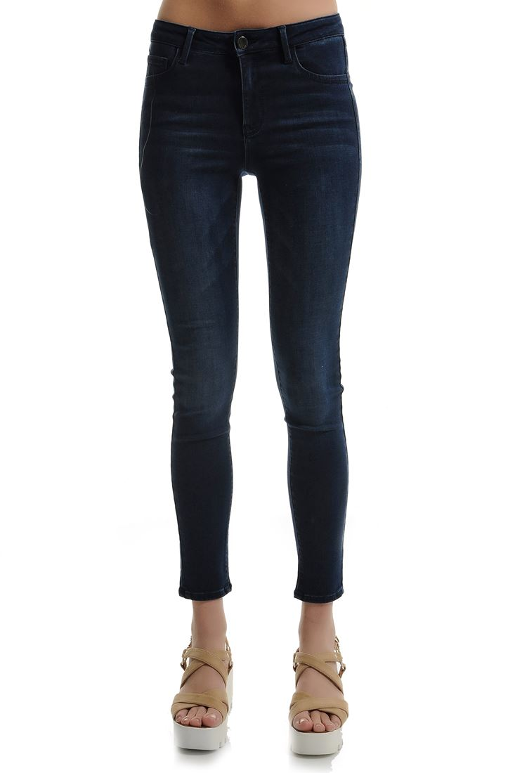 Navy Midrise Reborn Skinny Trouser