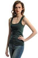 Bayan Yeşil Kare Yaka Atlet