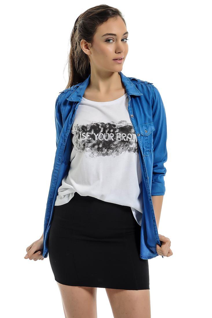 Mavi Uzun Kollu, Cepli Gömlek