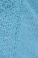 Bayan Mavi Konç Kısmı Dantelli Çorap