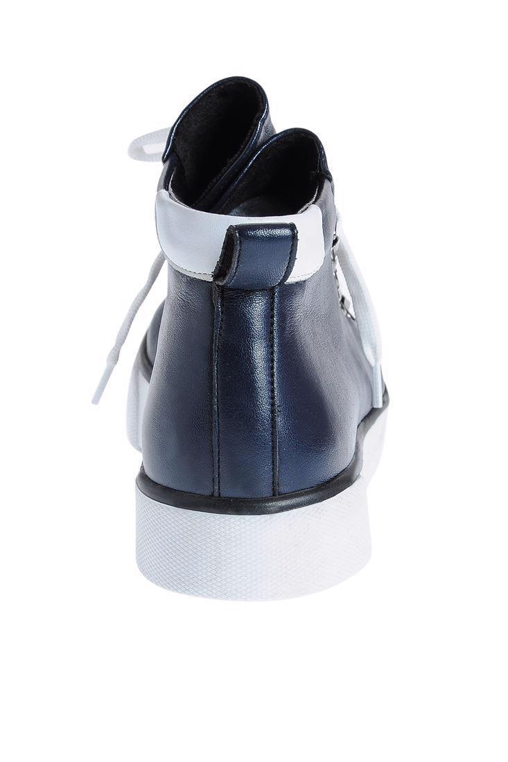 Bayan Lacivert Bilekte Biten Spor Ayakkabı