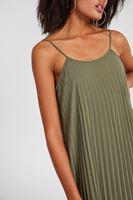 Bayan Yeşil Askılı Uzun Pilise Elbise
