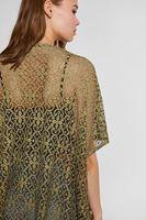 Bayan Yeşil Dantelli Kimono
