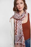 Women Grey Mix Pattern Shawl