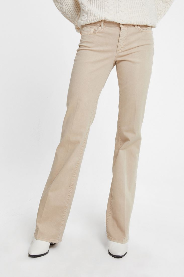 Cream Bella Boot Cut Trouser