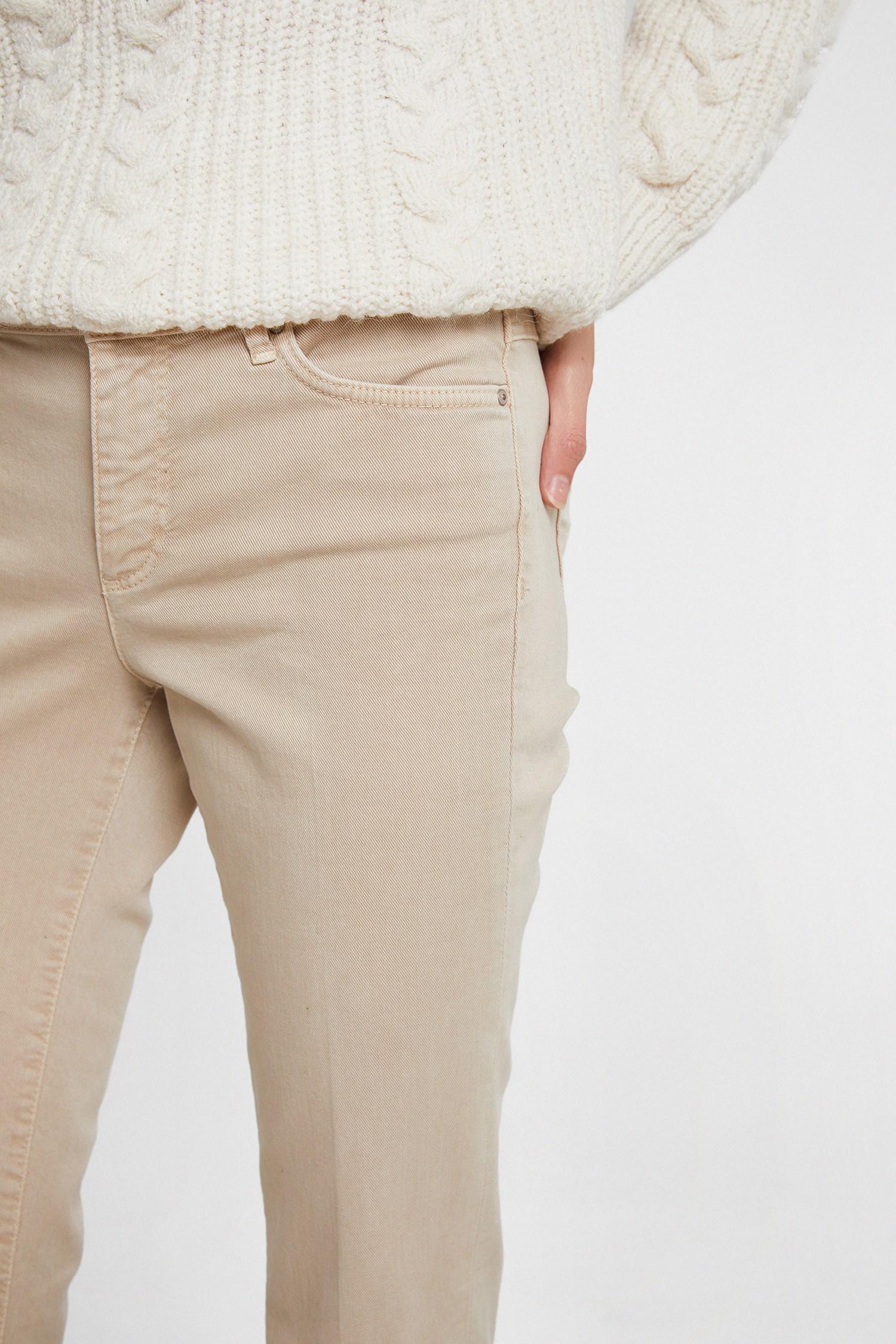 Bayan Krem Bot Paça Pantolon