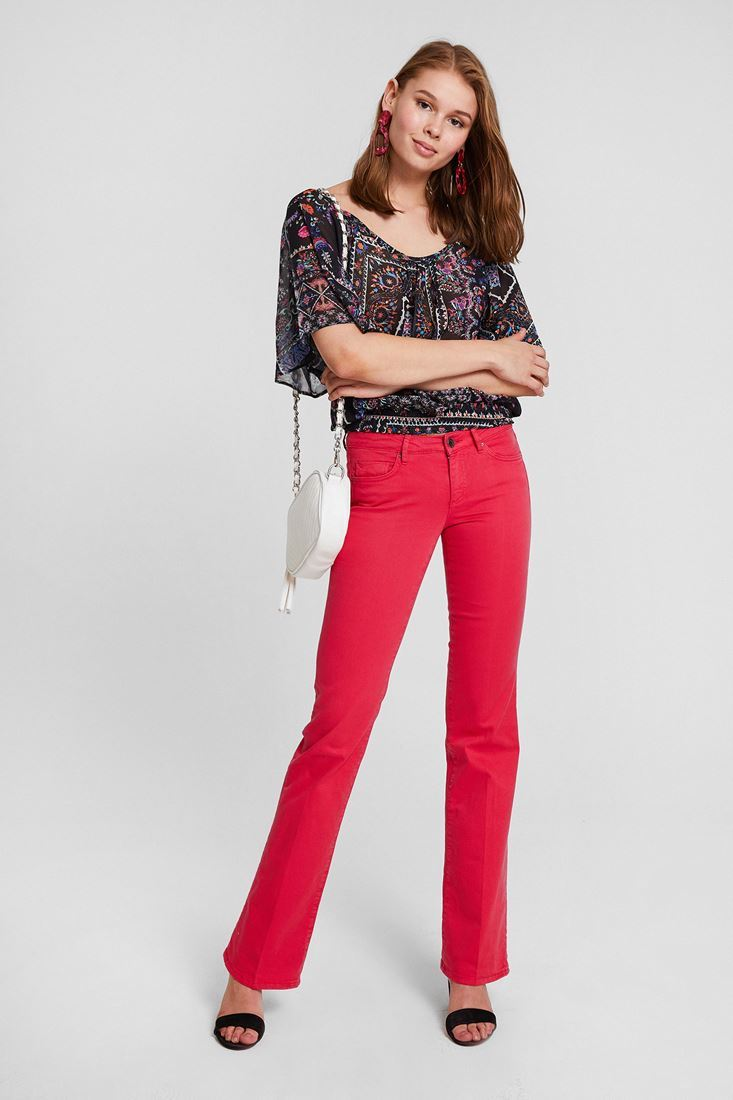 Pink Bella Boot Cut Trouser