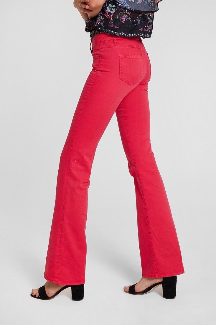 Bayan Pembe Bot Paça Pantolon
