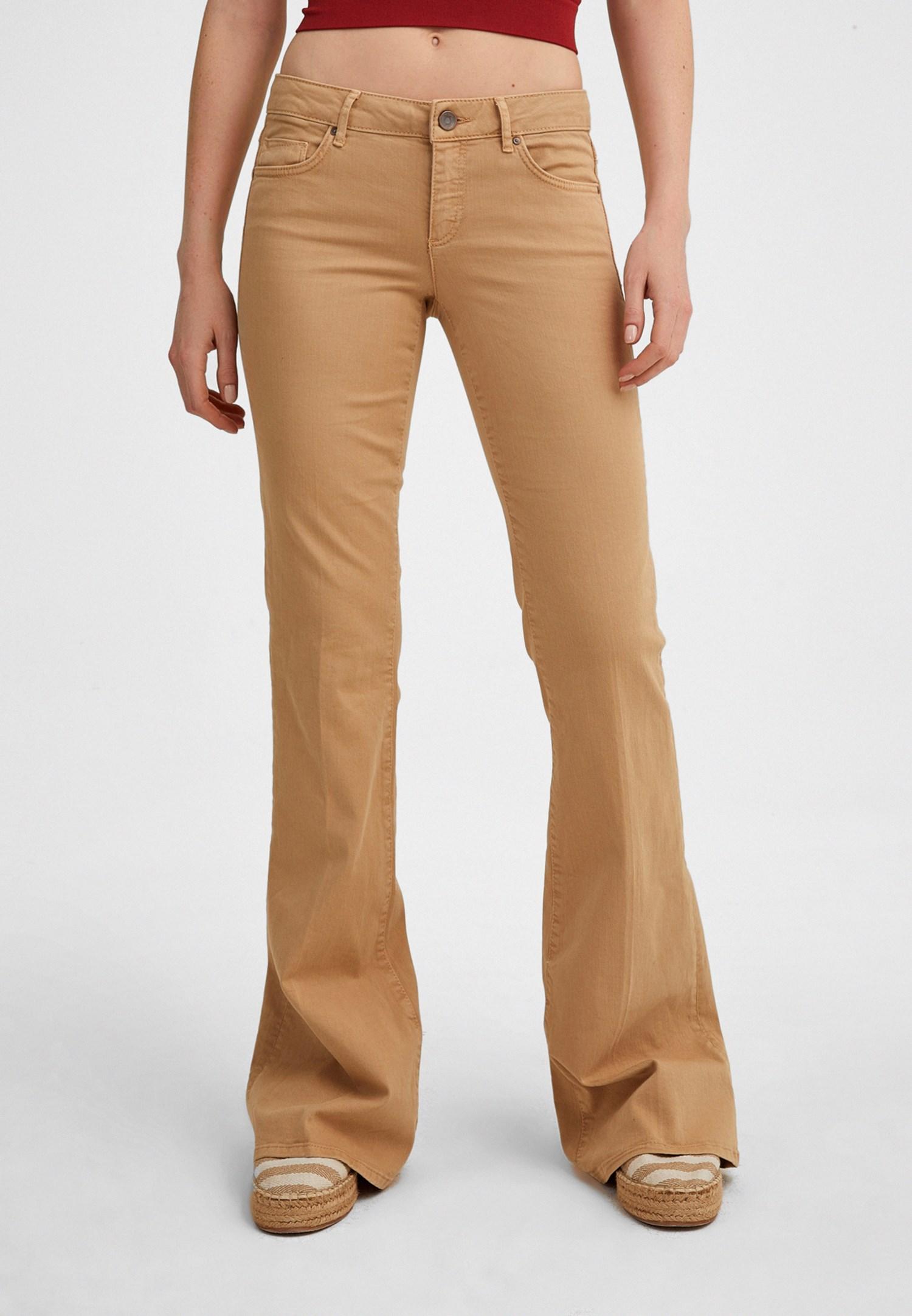 Women Brown Low Rise Flare Jean