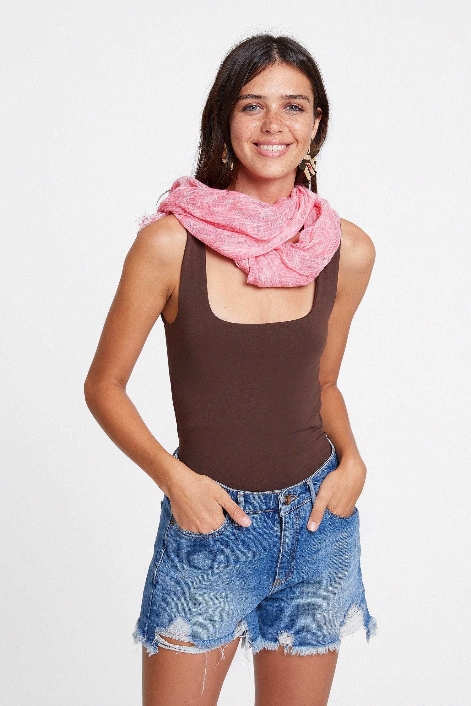 Women Pink Printed Scarf
