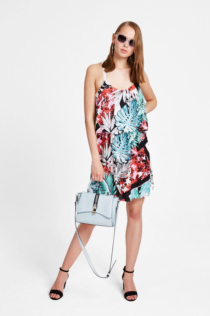 Mixed Printed Slip Dress