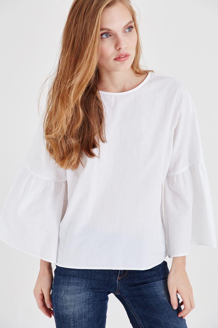 Bayan Beyaz Pamuk Bluz
