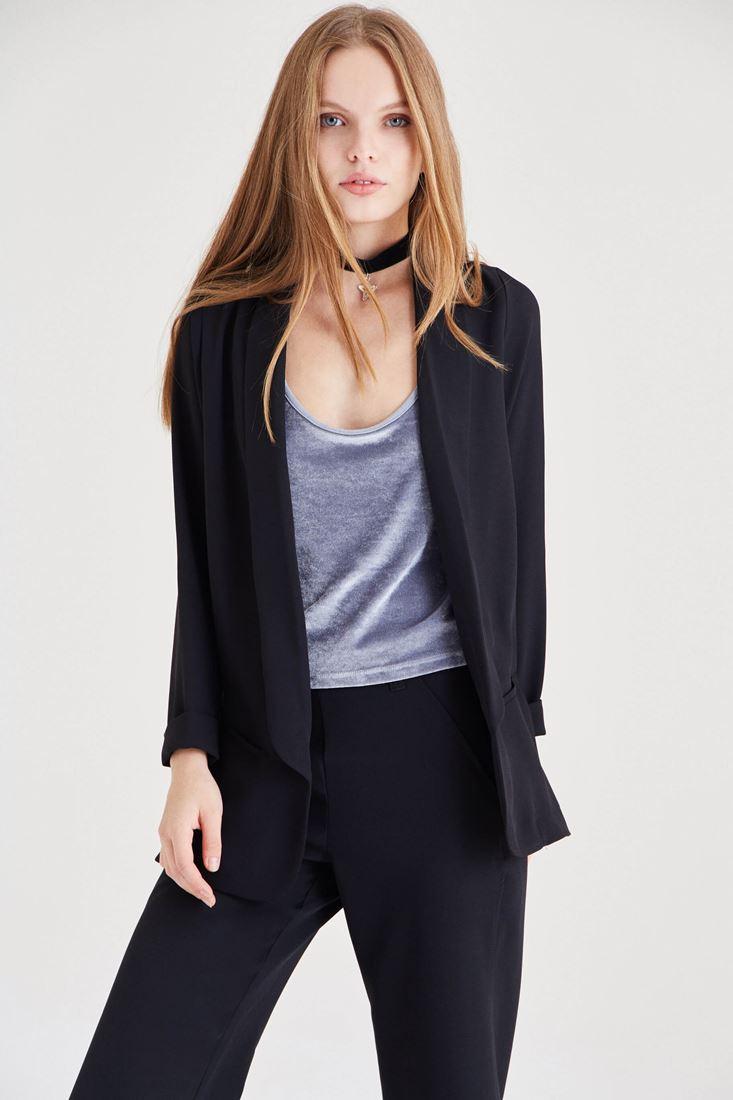 Bayan Siyah Blazer Ceket