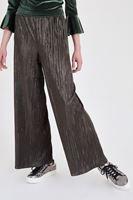 Bayan Yeşil Simli Pileli Pantolon