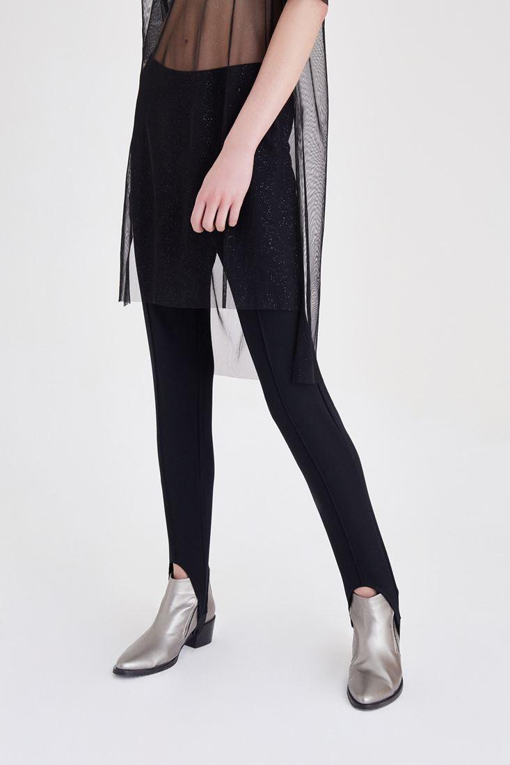 Bayan Siyah Dikişli Füzo Pantolon