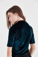 Bayan Yeşil Kadife Bluz