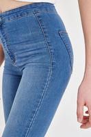 Bayan Mavi Yüksek Bel Kot Pantolon