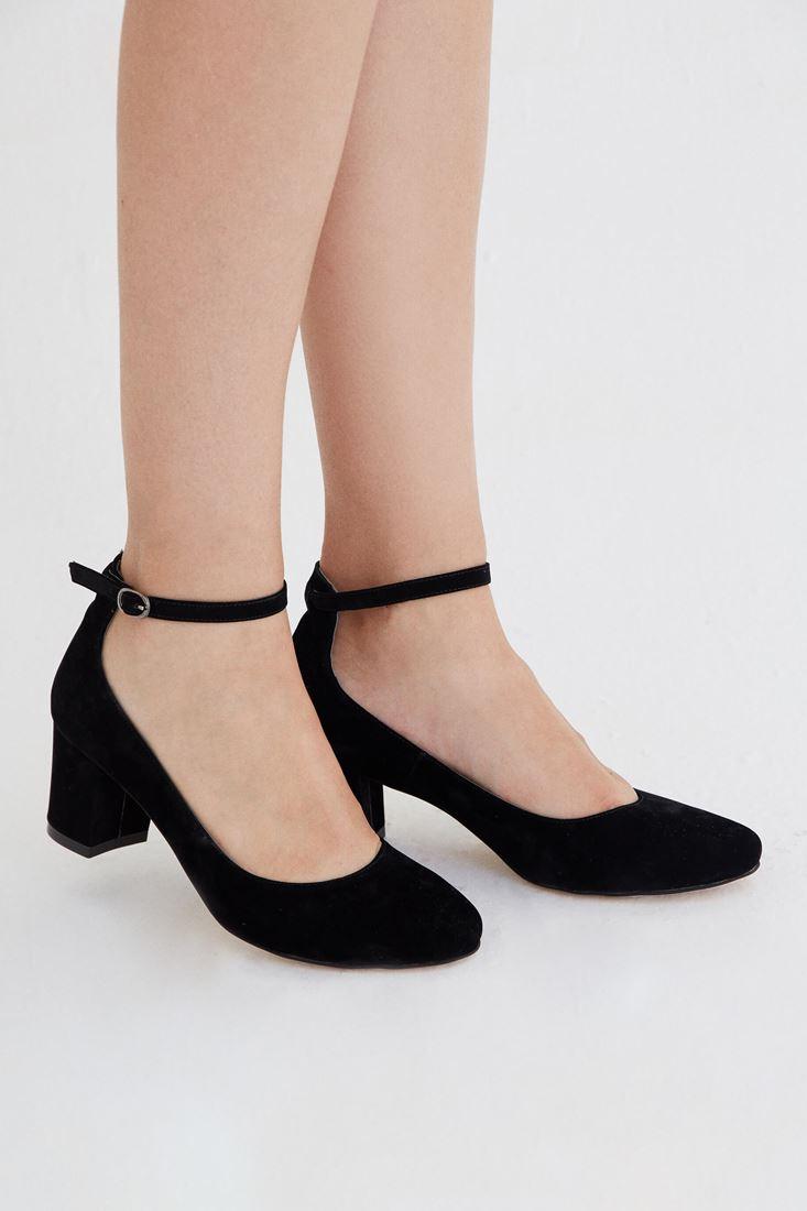 Bayan Siyah Kalın Topuklu Ayakkabı