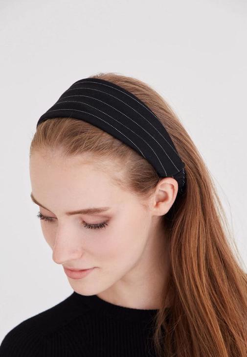 Siyah Çizgili Saç Bandı