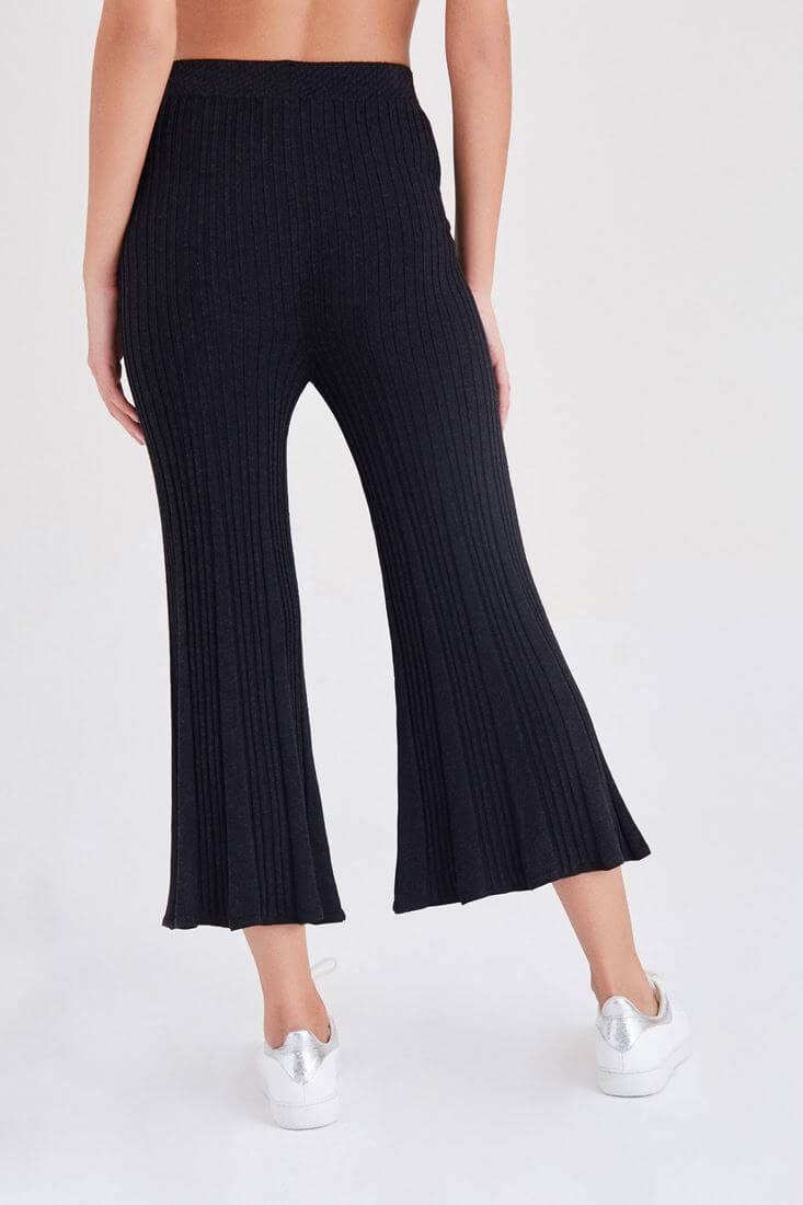 Bayan Siyah Triko Pantolon