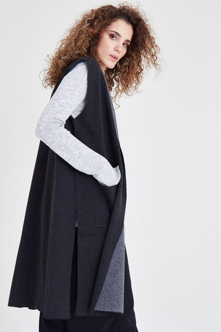 Bayan Siyah Triko Yelek