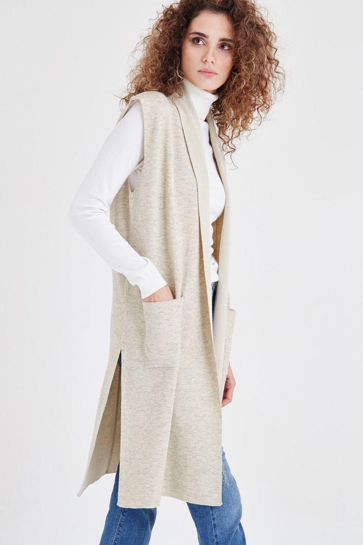 Cream Knitted Vest