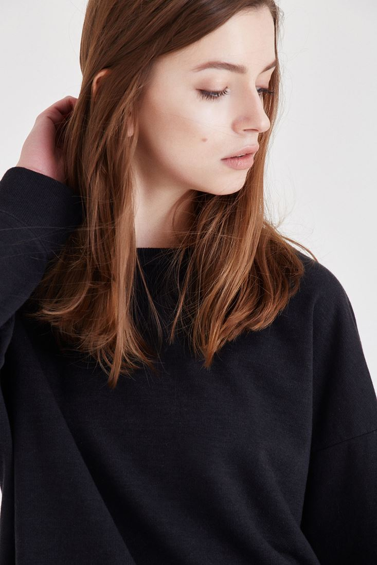 Bayan Siyah Sweatshirt