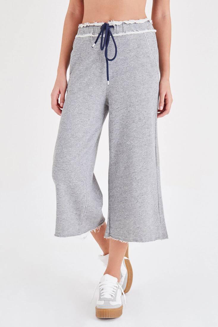 Gri Rahat Kesim Pantolon