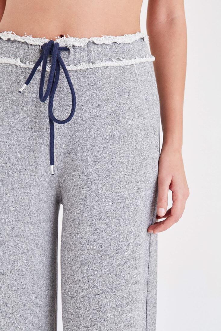 Bayan Gri Rahat Kesim Pantolon