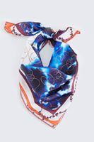 Bayan Mavi Fular