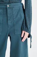 Bayan Yeşil Bol Kesim Kısa Paça Pantolon