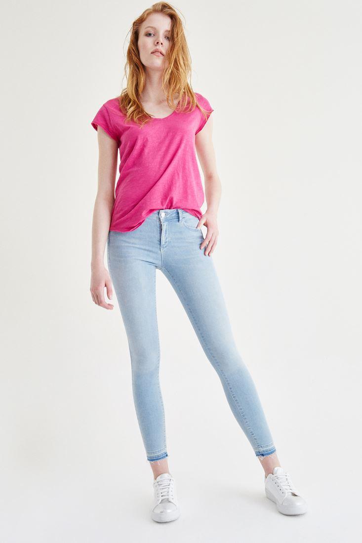 Mavi Düşük Bel Skinny Jean