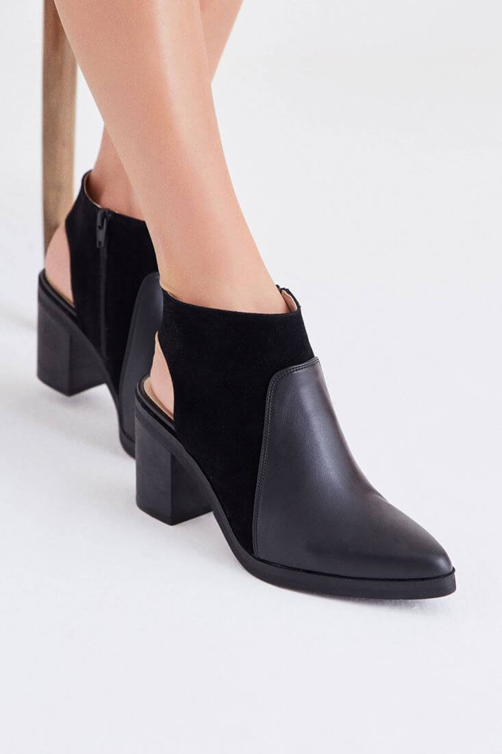 Black Boot With Heel Detail