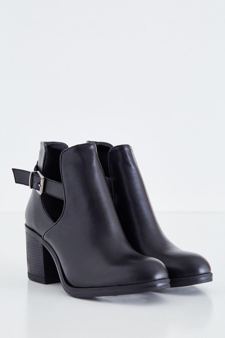 Bayan Siyah Topuklu Bot