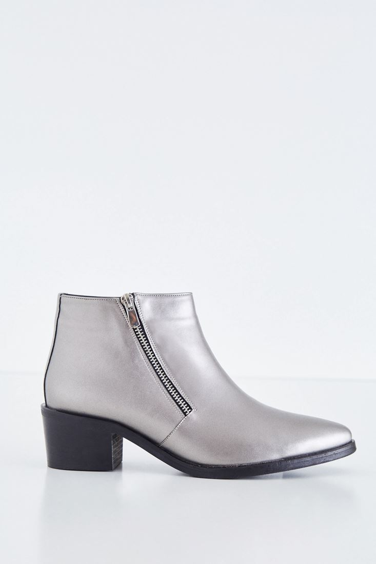 Grey Metallic Boot