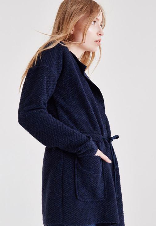 Lacivert Bağlamalı Ceket