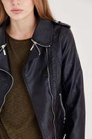 Bayan Siyah Deri Ceket