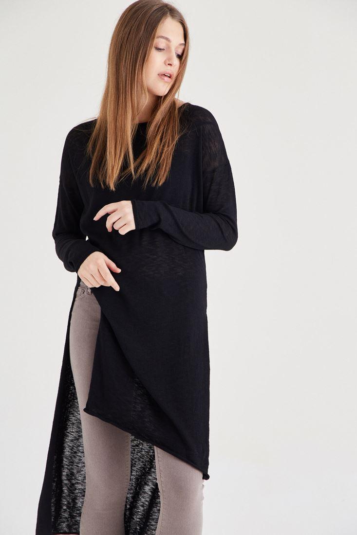 Bayan Siyah Uzun Triko