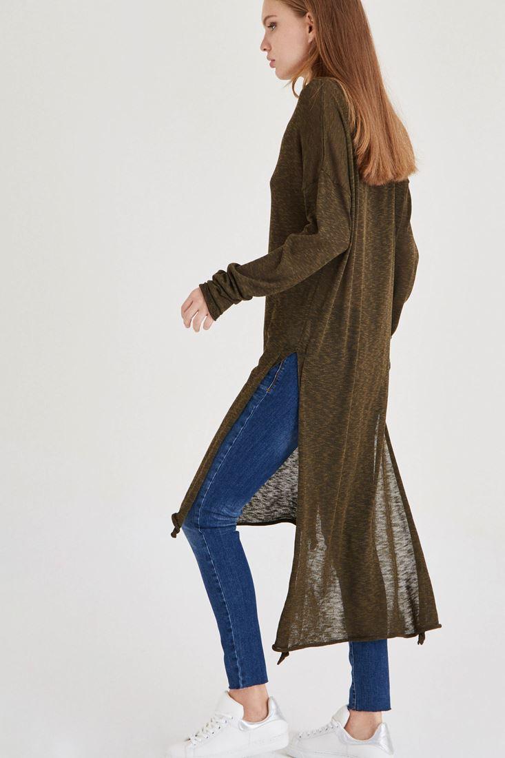Bayan Yeşil Uzun Triko