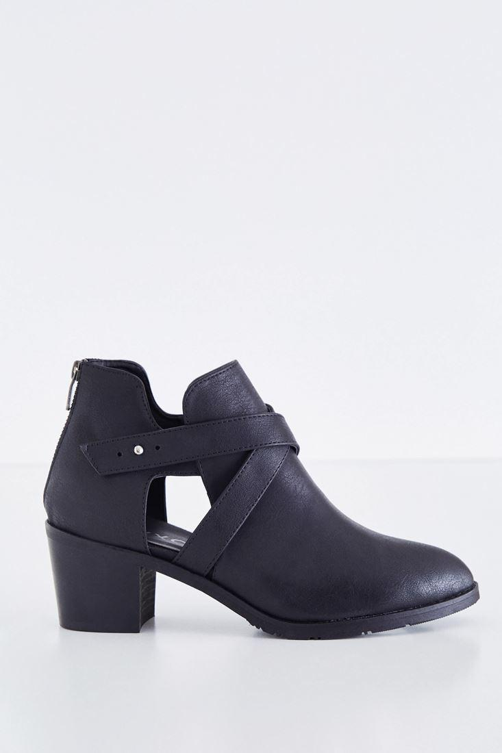 Women Black Leather Boot