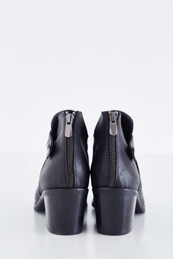 Bayan Siyah Deri Bot