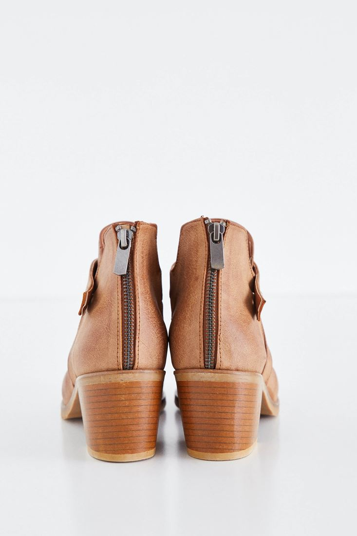 Bayan Kahverengi Deri Bot