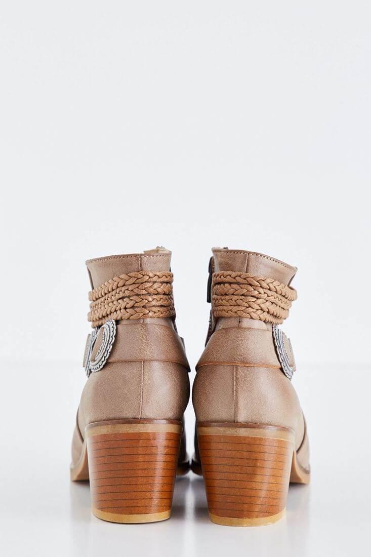 Bayan Kahverengi Tokalı Bot