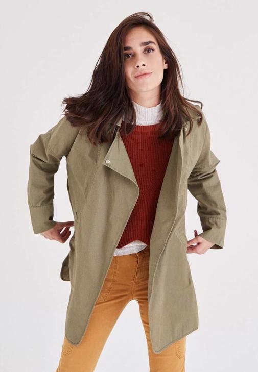 Yeşil Geniş Yakalı Ceket
