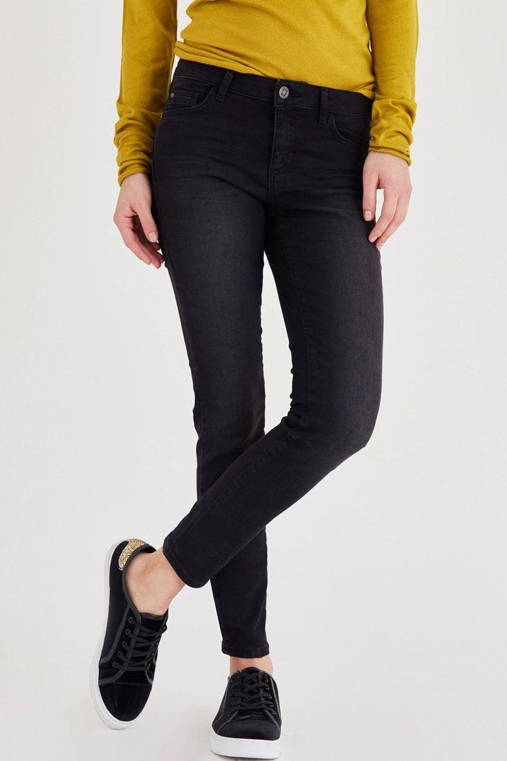 Siyah Düşük Bel Dar Paça Pantolon
