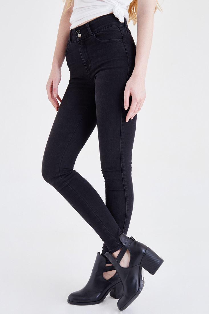 Bayan Siyah Yüksek Bel Skinny Jean