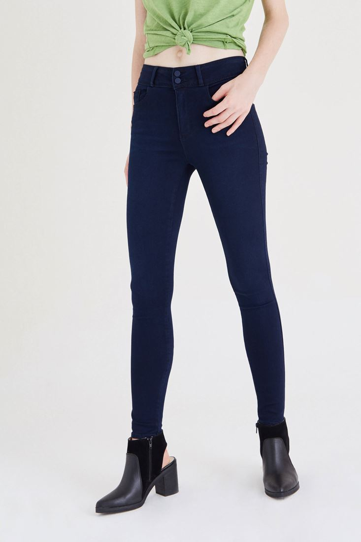 Mavi Yüksek Bel Skinny Jean