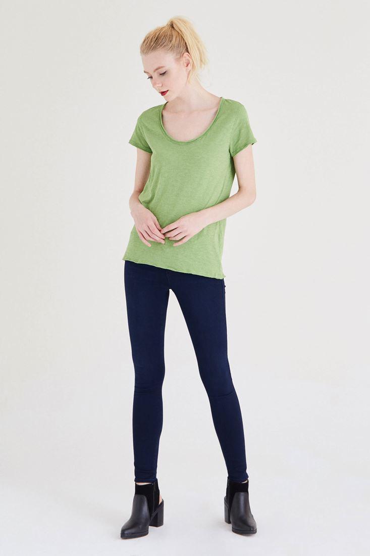 Bayan Mavi Yüksek Bel Skinny Jean