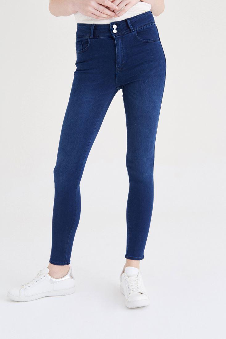 Lacivert Yüksek Bel Skinny Jean